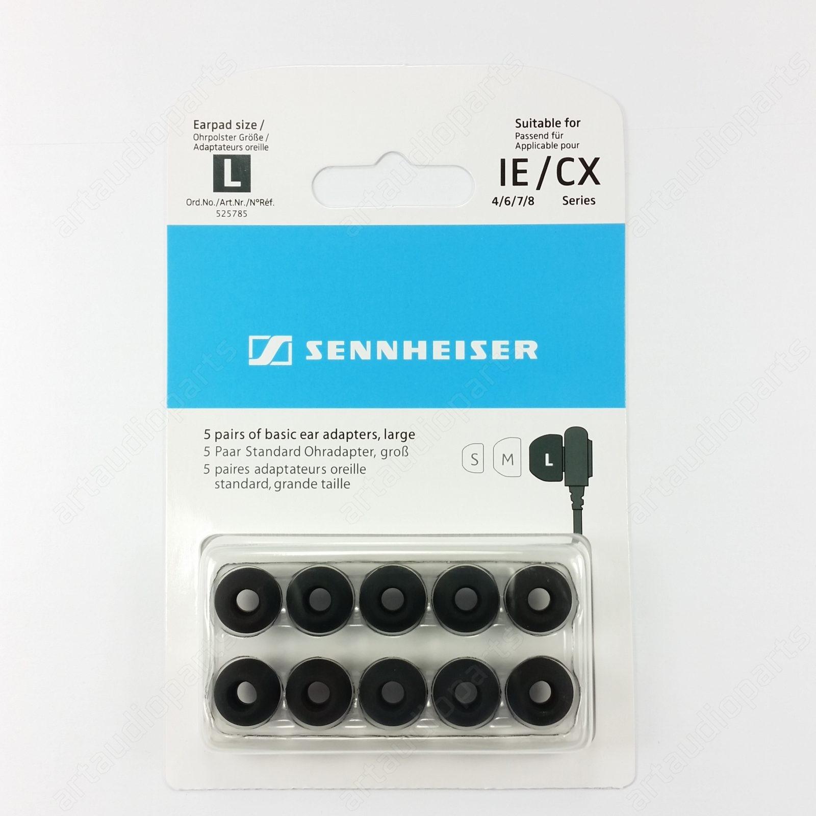Ear tips large-black for Sennheiser CX150 CX160 CX175 CX200StreetII CX213 CX250